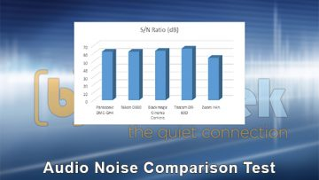 Audio Noise Comparison Test for DSLR Cameras vs Digital Recorders