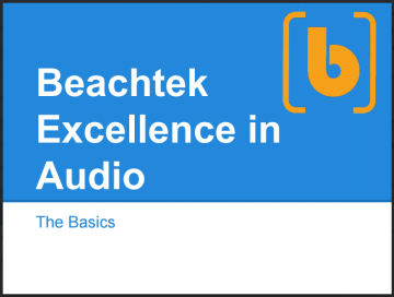 Beachtek Excellence in Audio guide - The Basics - ebook cover
